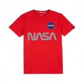 T-SHIRT ALPHA NASA REFLECTIVE SPEED RED