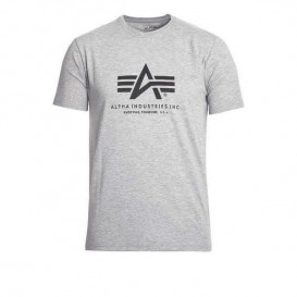 T-SHIRT ALPHA BASIC GREY HEATHER