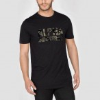 T-SHIRT ALPHA CAMO PRINT BLACK/WOODLAND CAMO T-shirt