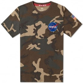 T-SHIRT ALPHA SPACE SHUTTLE WOODLAND CAMO