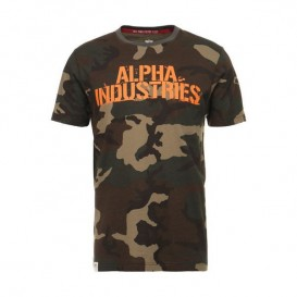 T-SHIRT ALPHA BLURRED WOODLAND CAMO