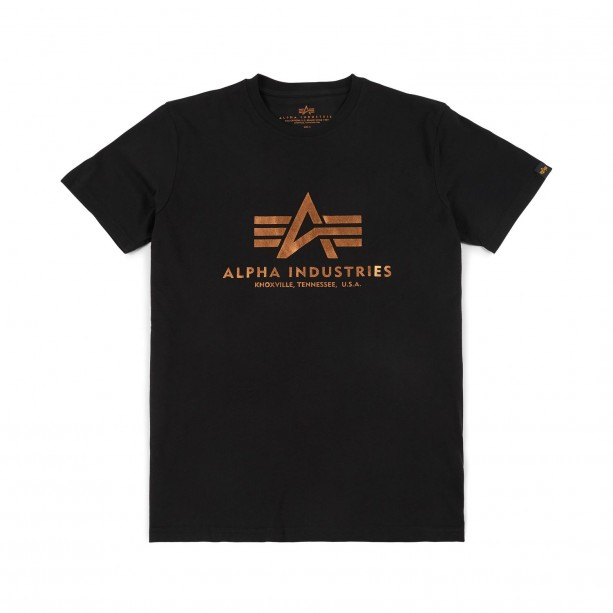 T-SHIRT ALPHA BASIC BLACK GOLD T-shirt