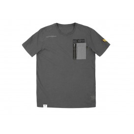 T-SHIRT ALPHA UTILITY POCKET GREY BLACK