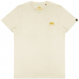 T-SHIRT ALPHA BASIC SMALL LOGO VINTAGE WHITE