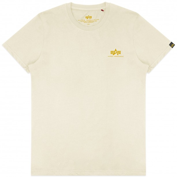 T-SHIRT ALPHA BASIC SMALL LOGO VINTAGE WHITE T-shirt
