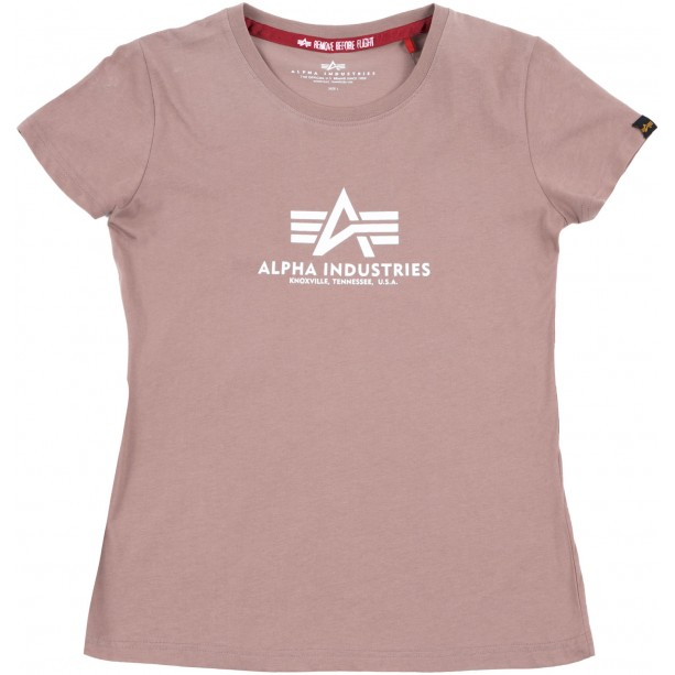 T-SHIRT ALPHA NEW BASIC Wmn MAUVE T-shirt