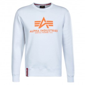 ΦΟΥΤΕΡ ALPHA INDUSTRIES BASIC WHITE/NEON ORANGE
