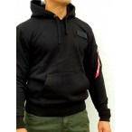 ΦΟΥΤΕΡ ALPHA INDUSTRIES RED STRIPE HOODY BLACK/WHITE Προσφορές