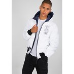 ΤΖΑΚΕΤ ALPHA HOODED PUFFER FD REV. NEW NAVY Jacket-Μπουφαν