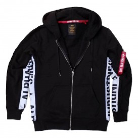 ΦΟΥΤΕΡ ALPHA INDUSTRIES INLAY ZIP /ΚΟΥΚΟΥΛΑ BLACK