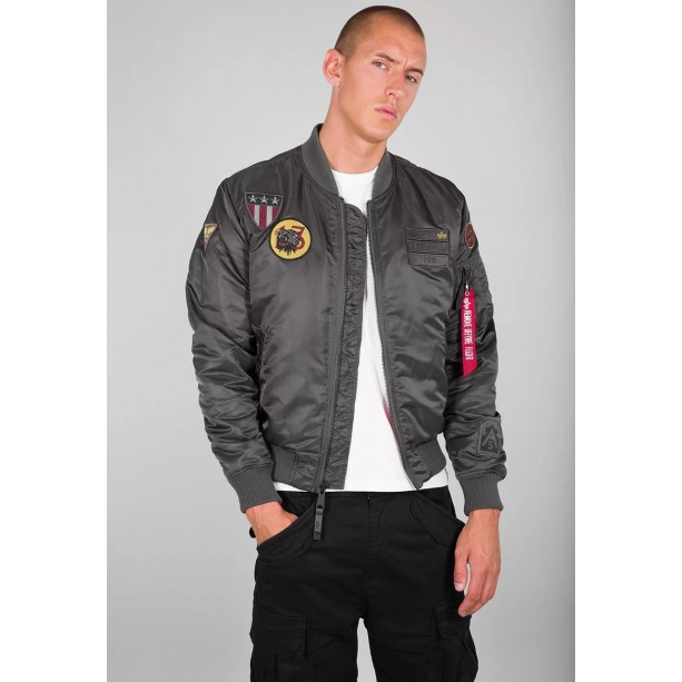 ΤΖΑΚΕΤ ALPHA INDUSTRIES MA-1 AIR FORCE GREY/BLACK Jacket-Μπουφαν