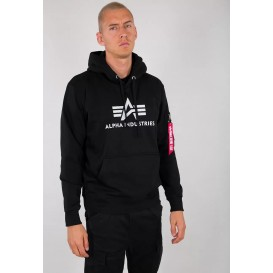 ΦΟΥΤΕΡ ALPHA INDUSTRIES 3D LOGO HOODY BLACK