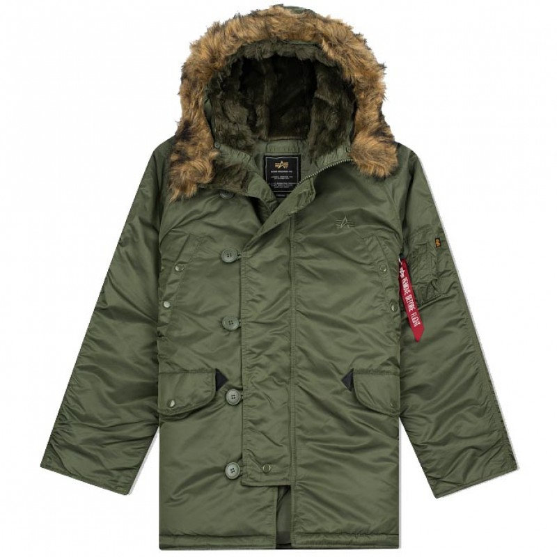 c3133a9c8 ALPHA INDUSTRIES COLD WEATHER JACKET N3B SAGE GREEN