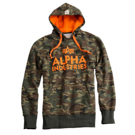 ΦΟΥΤΕΡ ALPHA INDUSTRIES FOAM PRINT WOODLAND CAMO ΜΕ ΚΟΥΚΟΥΛΑ