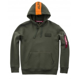 ΦΟΥΤΕΡ ALPHA INDUSTRIES ORANGE STRIPE DARK GREEN ΜΕ ΚΟΥΚΟΥΛΑ