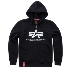 ΦΟΥΤΕΡ ALPHA INDUSTRIES BASIC ZIP /ΚΟΥΚΟΥΛΑ BLACK