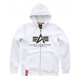 ΦΟΥΤΕΡ ALPHA INDUSTRIES BASIC ZIP /ΚΟΥΚΟΥΛΑ WHITE