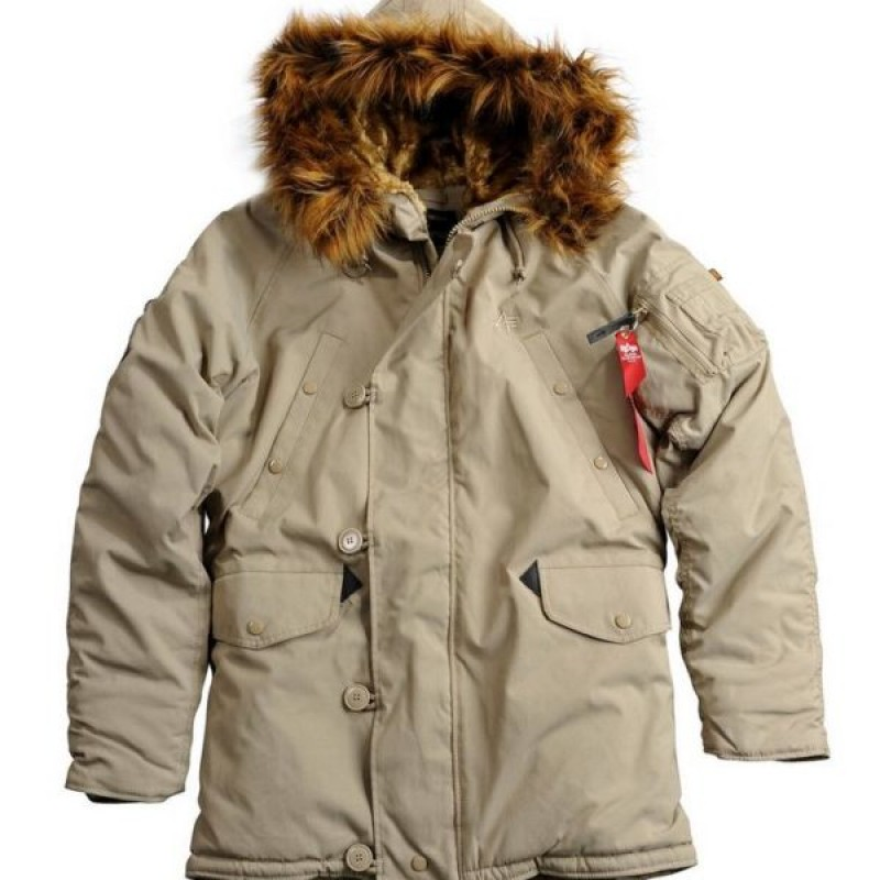 paquete esponja algas marinas  ALPHA INDUSTRIES EXPLORER COLD WEATHER JACKET KHAKI