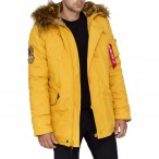 ΠΑΡΚΑ ALPHA INDUSTRIES EXPLORER MUSTARD Jacket-Μπουφαν
