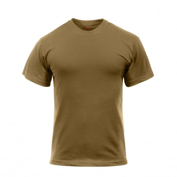 T-SHIRT ROTHCO BROWN US MILITARY T-shirt