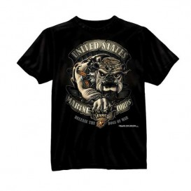 T-SHIRT ROTHCO USMC DOGS OF WAR BLACK