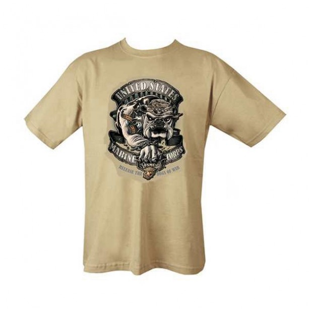 T-SHIRT ROTHCO USMC DOGS OF WAR BEIGE T-shirt