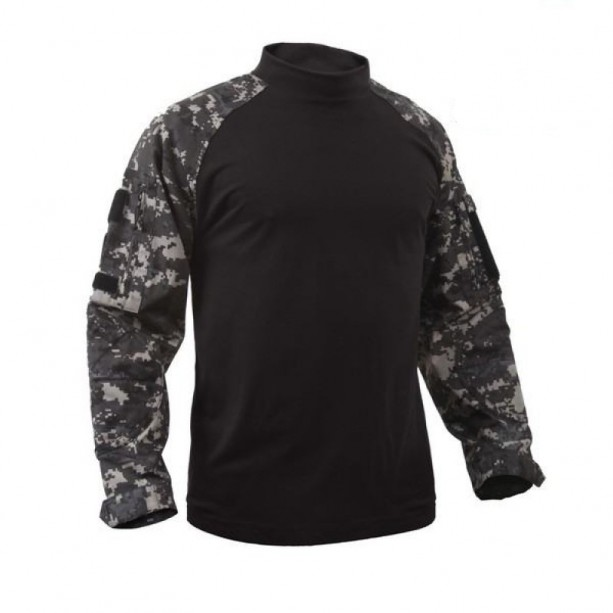 COMBAT SHIRT ROTHCO URBAN DIGITAL - ΜΑΥΡΟ